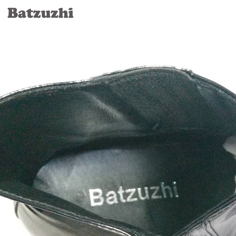 5167705a08d US $85.05 37% OFF|Batzuzhi Top Fashion Man's Ankle Boots with stars and  Rivets Men Dress Boots Black Leather Business Botas Short for Party  Party-in ...