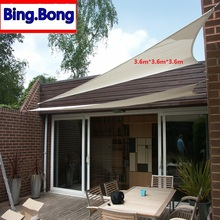 European Freeshipping sun shade sail waterproof PU net lona para toldo canopy outdoor pergola gazebo garden cover awning
