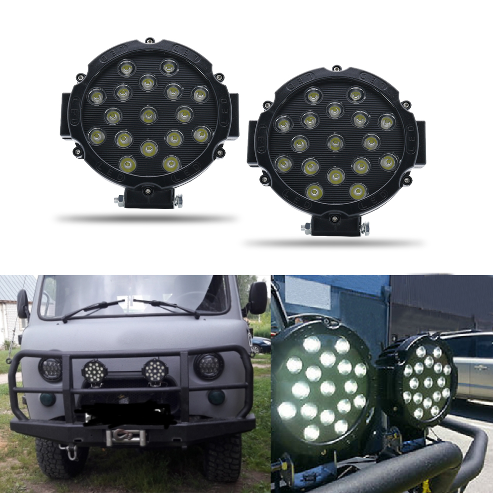 6 PCS Round WATERPROOF 10W 1 LED WORK FOG SPOT LIGHT OFFROAD JEEP CAR 12V//24V