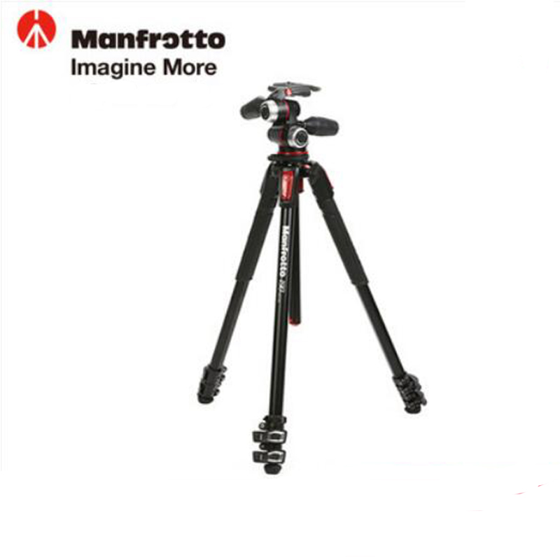 Manfrotto New MK190XPRO3-3W Aluminum Tripod Kit Professional Tripod With 3D Head Camera Support For Canon Nikon Digital Camera new sys700 aluminum professional tripod