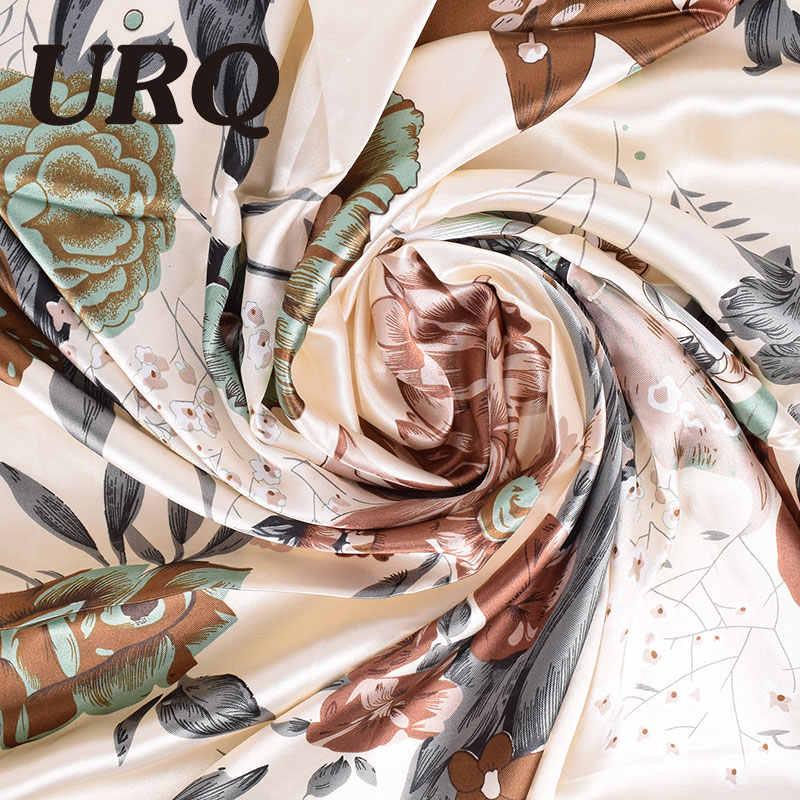 Nuovo Disegno Donna Sciarpa Di Seta 90*90 cm Raso Piazza Sciarpe per donne Foulard per Capelli capelli di Seta sciarpa per dormire S9A9641