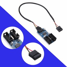 30cm 1 ft USB Header font b Cables b font Mainboard 9 Pin Male 1 To