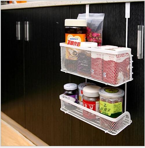 Portable Kitchen Rack Storage Organizer Holder Kitchen Accessories Wall  Shelf Rack Spoon Rests Food Ingredient Hanging
