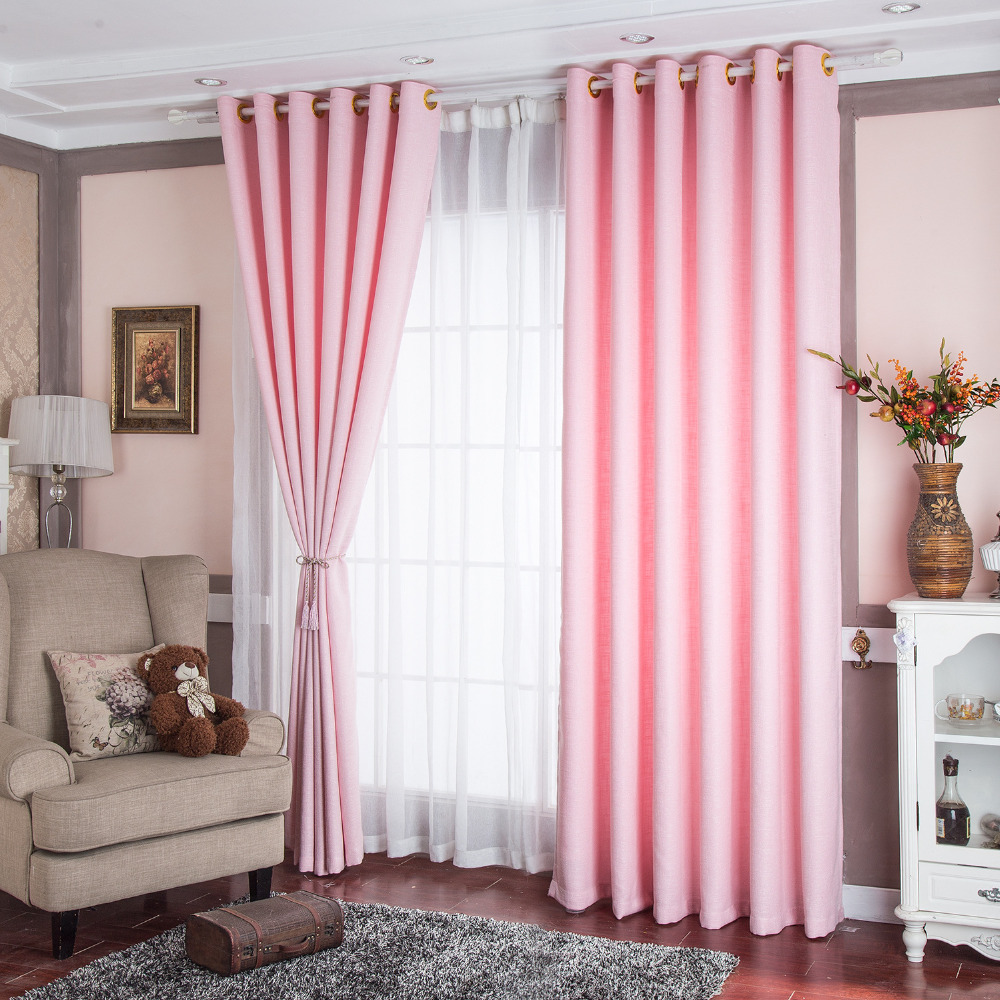 Blackout curtains for bedroom - Solid Window Curtains For Living Room Polyester Thicken Blackout Curtains For Bedroom Kitchen Baby Room Curtain