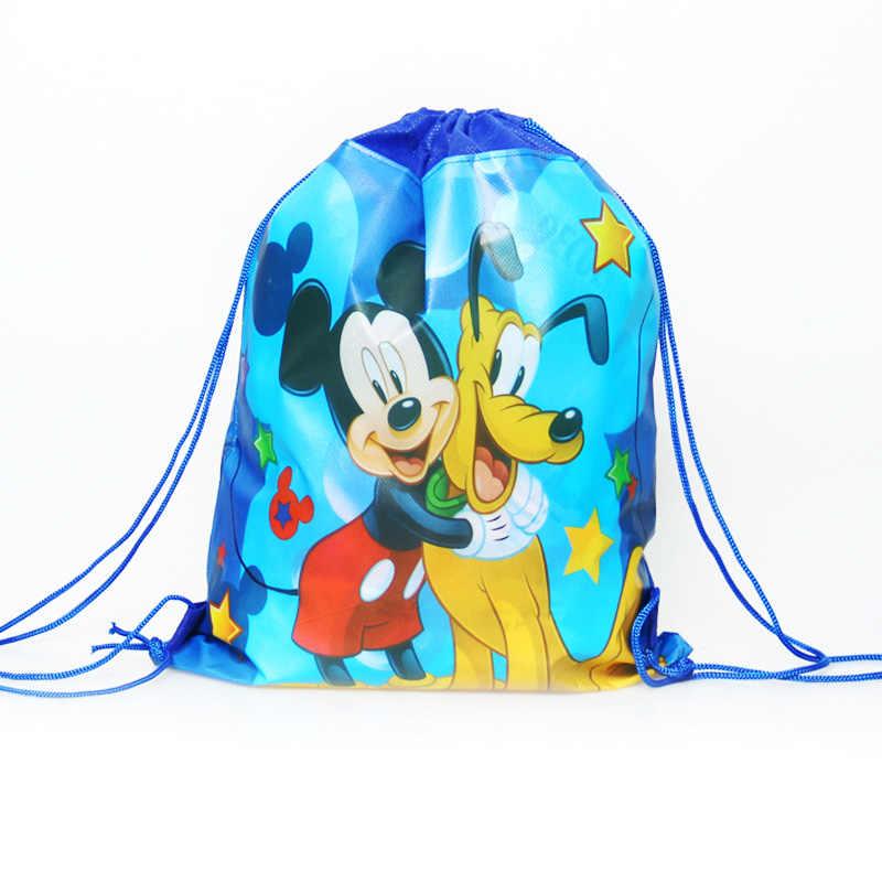 1 pcs การ์ตูน Minnie/Mickey/เจ้าหญิง/Mario/Spiderman กระเป๋าเด็กโรงเรียนกระเป๋าเป้สะพายหลัง unicorn party supplies กระเป๋าของขวัญ