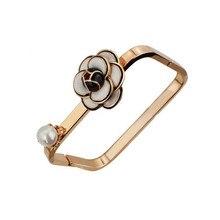 S19 цветы Камелия известный роскошный бренд жемчуг pulseiras ювелирные браслеты и браслеты femme для женщин