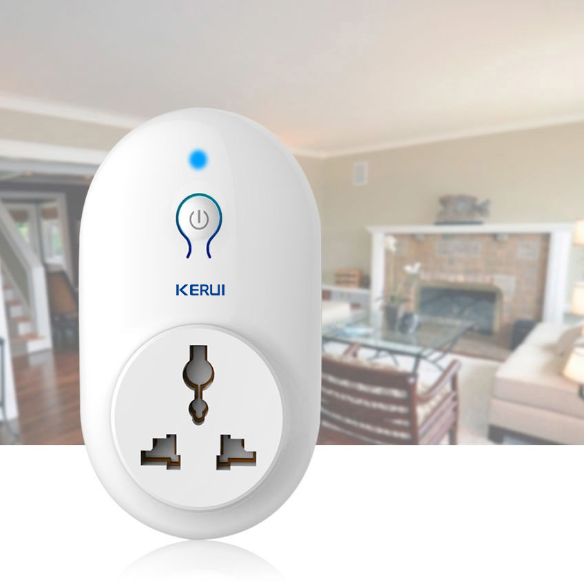 KERUI 433MHz Power Socket Wireless Remote Control Wireless Smart Socket Adapter Switch Plug Outlet For Security Alarm System
