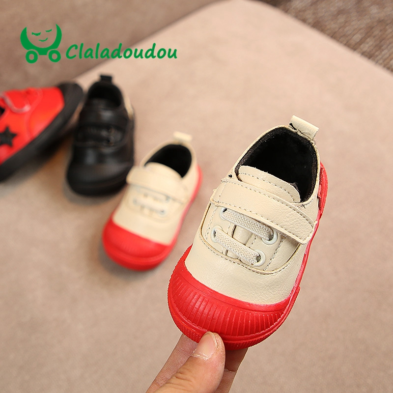 Claladoudou 12-14CM Brand Pu Leather Baby Moccasins Patch Fa