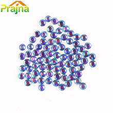 1440pcs1-2mm SS6AB Bunte DIY Strassapplikationen Glas Strass Dekorationen Hot Fix Applikator Nail art Strass Trim(China)