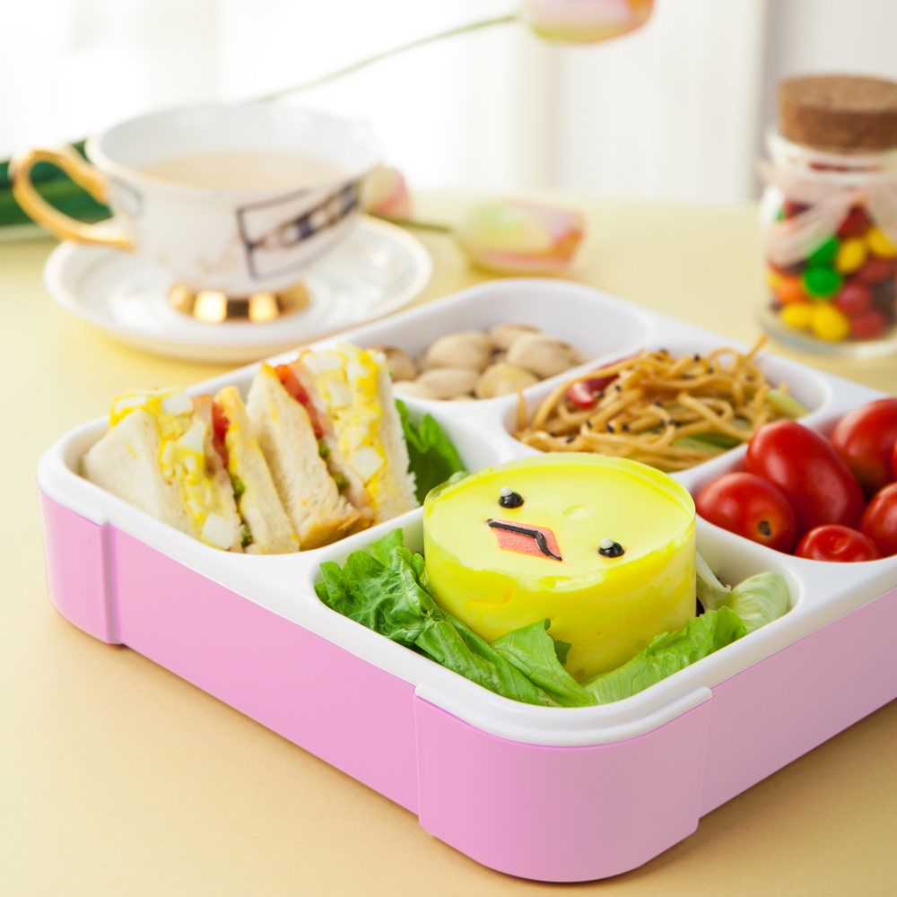 CnCrown 5 Slots Leak-Proof Lunch Box Stylish Benton Sushi Fruit Bento Picnic Box Box 5 Compartments Cute Outdoor Food Container