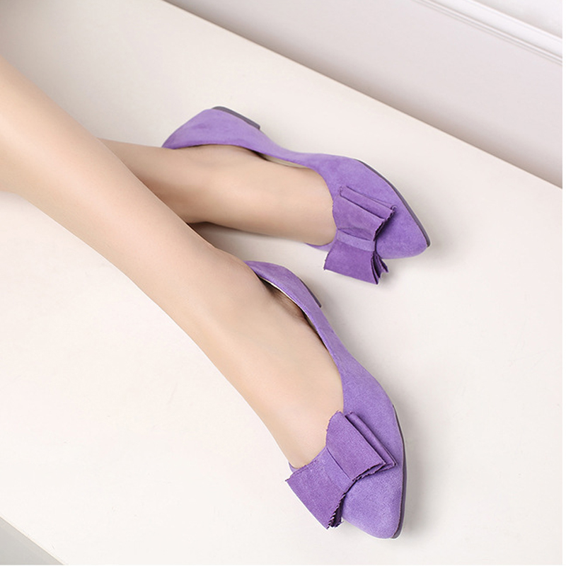 2016 Spring New Fashion Korean Bowtie Female Flats Leisure Sallow Mouth Pointed Toe Concise Flat Ladies Shoes Hot Sale ST207 2017 new fashion spring ladies pointed toe shoes woman flats crystal diamond silver wedding shoes for bridal plus size hot sale