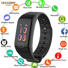 Smart band bracelet Fitness Tracker Watch Wristband Heart Rate Monitor Smart Bracelet F1 Smartband Blood Pressure For Men Women(China)