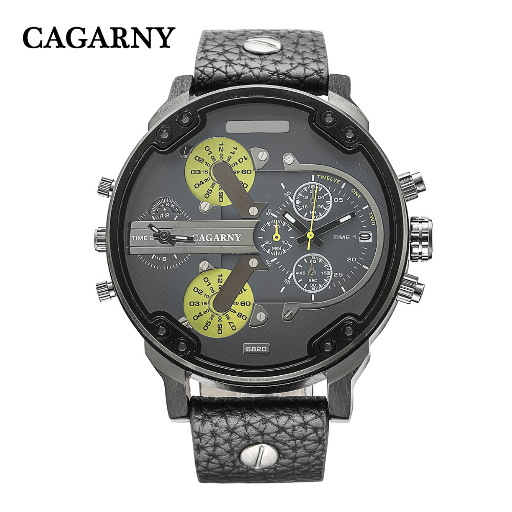 dual time zones military watch sports men's watches (5)