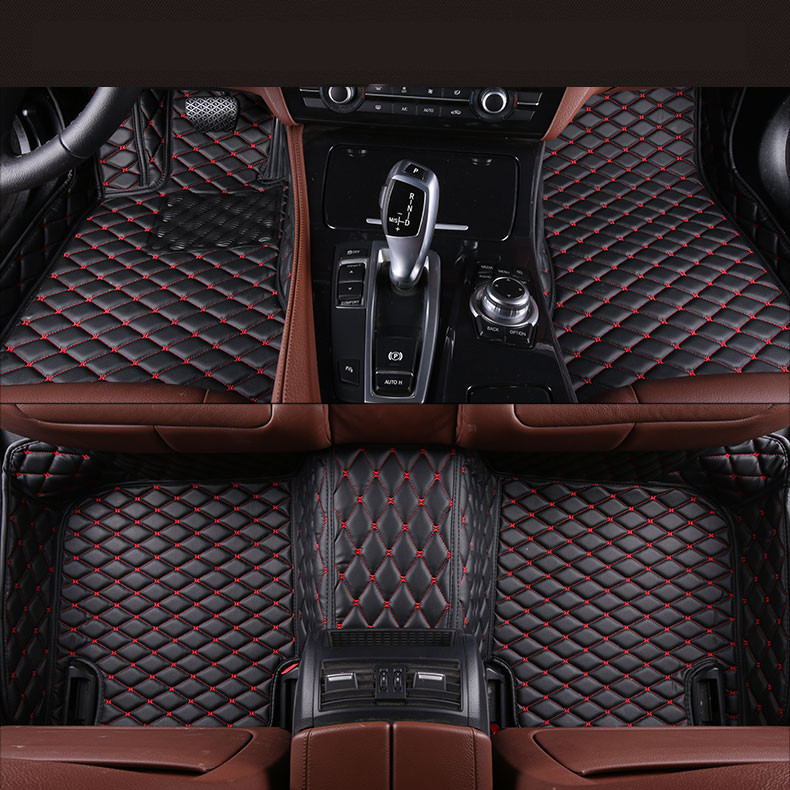Auto Floor Mats For Ssangyong Rexton W II 2008-2017 Foot Carpets Car Step Mats High Quality Brand New Embroidery Leather Mats car rear trunk security shield cargo cover for ssangyong rexton ii w 2008 2017 high qualit black beige auto accessories