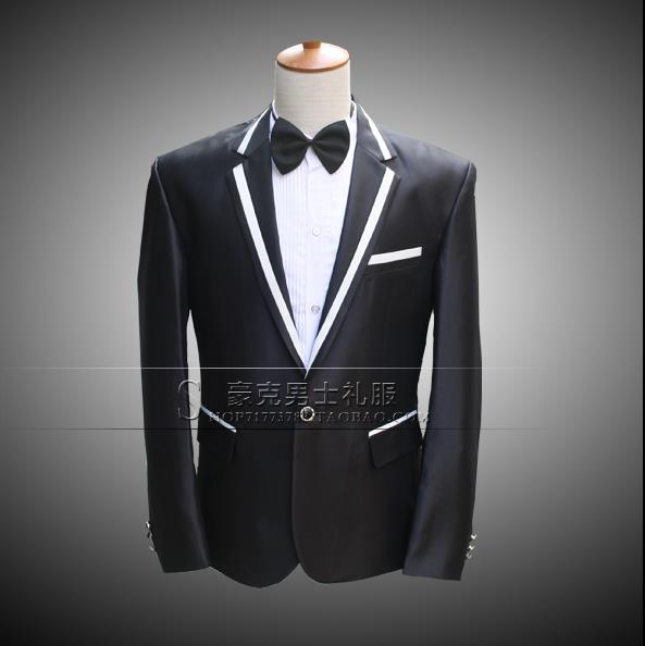 Noticia original slim fit hombres traje conjunto con pantalones trajes para  hombre novio estilo estrella nueva ropa Traje + pant + tie 4XL 9921990702d