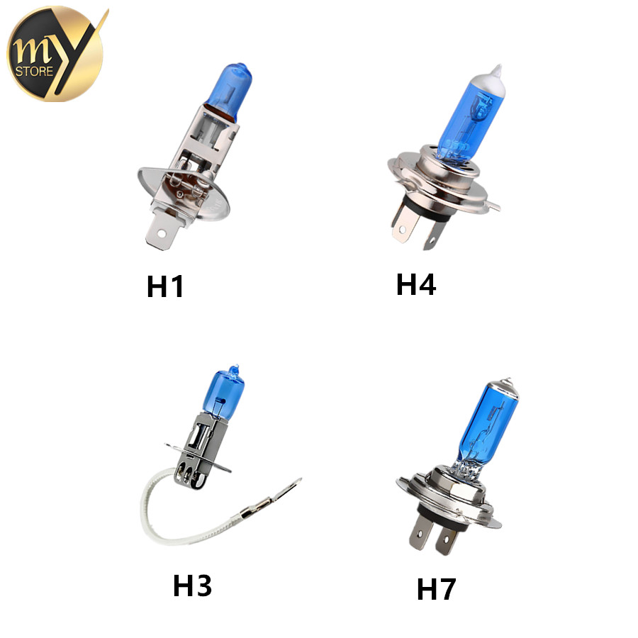 H1 H3 H7 H4 24V 100W Super Bright Fog Lights Halogen Bulbs High Power Headlight Lamp Car Light Source Auto Parking White