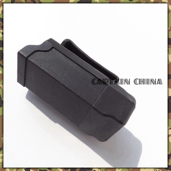 ̿̿̿(•̪ )Polímero negro holster revista bolsa cinturón negro holster ...