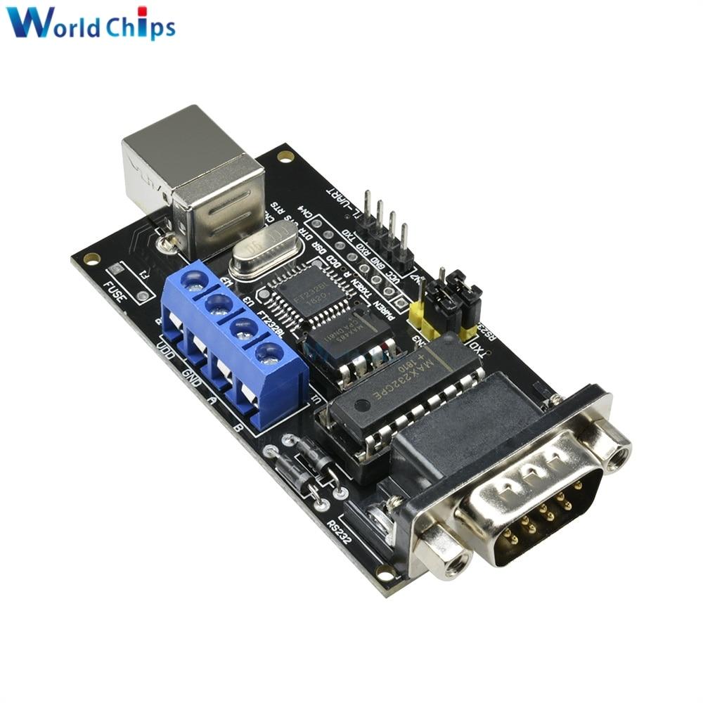 FT232BM/BL FTDI Standard USB to Serial RS232 TTL UART RS485 Converter DB9 Adapter Controller Module Board For Arduino Standard
