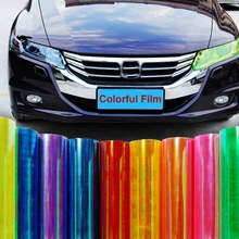 цена на 30x200cm Car Sticker 13 Colors Car Headlight Turned Change Color film Protect Film Lamp Stickers Automobiles Decal Car styling