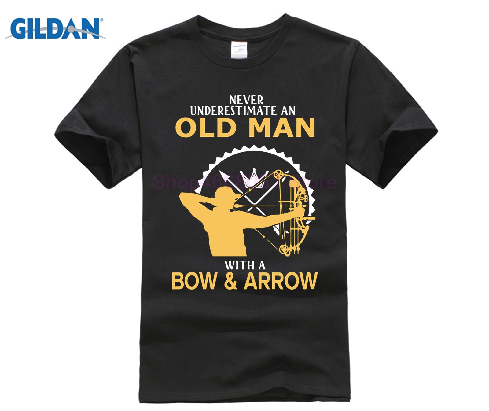 GILDAN Never Understimate an Old Man with a Bow and Arrow Tee Shirt