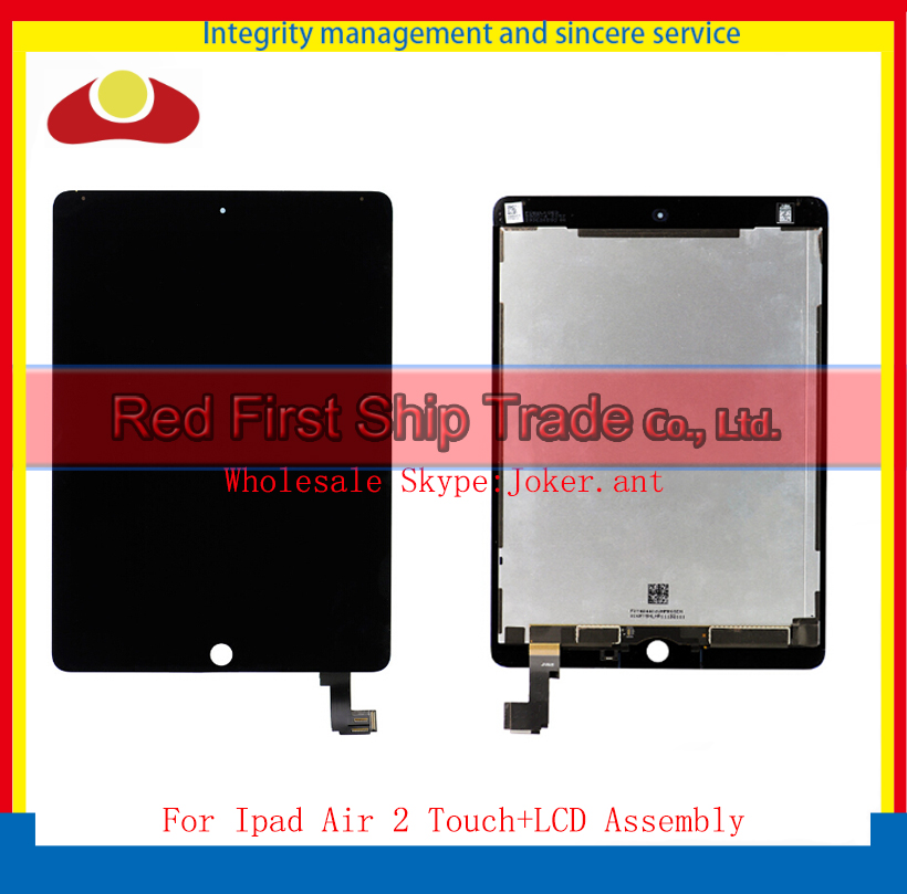 9.7 For Ipad Air 2 2nd ipad 6 A1567 A1566 Full LCD Display Touch Screen Digitizer Assembly Complete Glass Lens Panel+Tracking