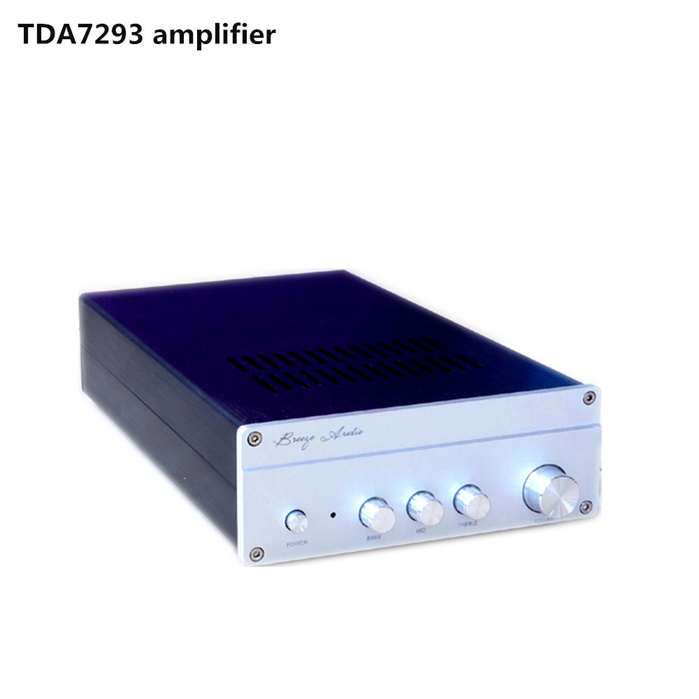 QF93 TDA7293 A class With three tones pre-amplifier HIFI Audio amplifier Sound warm and delicate queenway dq1 preamplifier pre amp preamp pre amplifier pre amplifier class a delicate amplifier 1 85kg