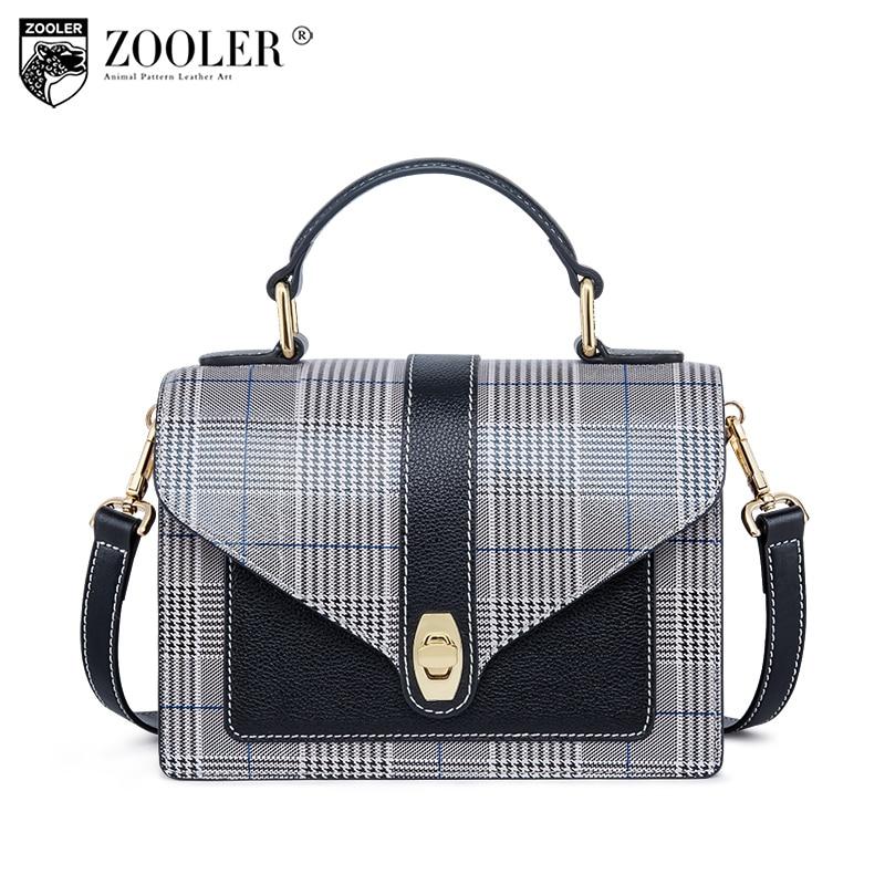 just in stock now Top!2018 ZOOLER woman shoulder messenger bags genuine leather bag patchwork cross body bolsa feminina#B226 brand new b226