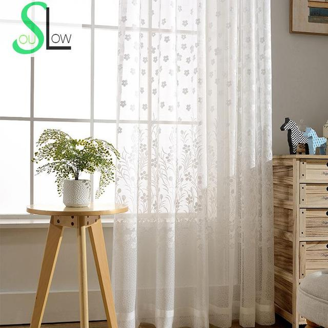 Genial Slow Soul Curtains White Spring Minimalist Jacquard Floral For Living Room  Curtain Tulle Bedroom Kitchen And Sheer Chinese Baby