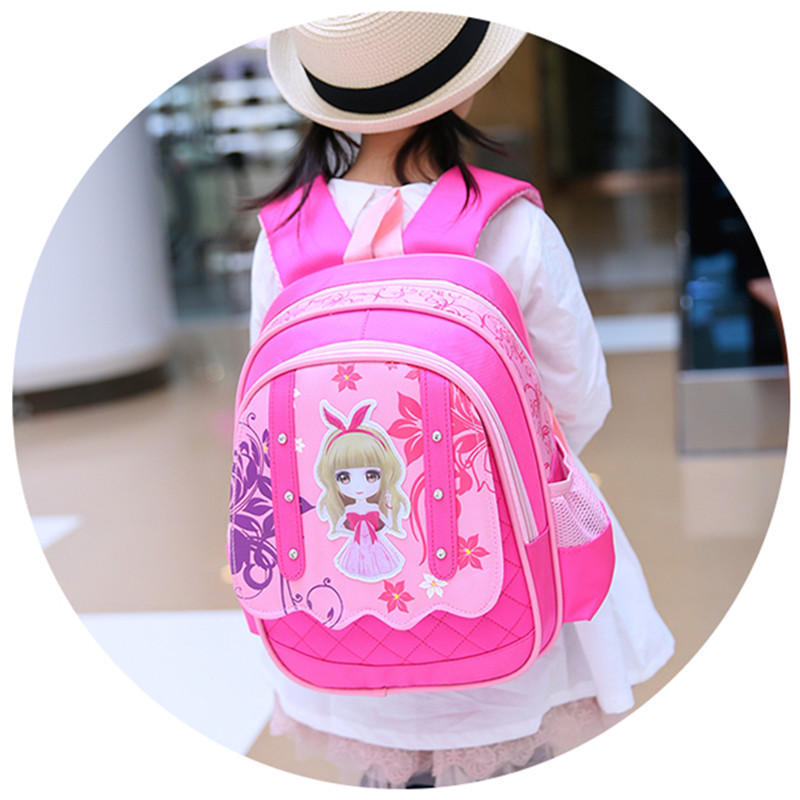 все цены на schoolbag lovely school bags for girls nylon Backpack for girls Cartoon children backpacks children school bags mochila escolar