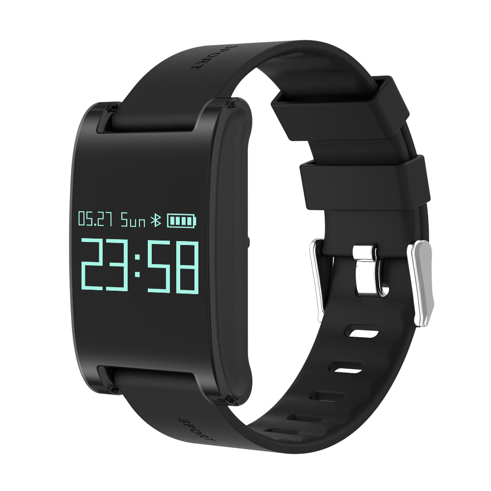 DM68 OLED blood pressure heart rate monitor Caller ID sport smart Fitness Bracelet Watch intelligent For For iOS Android cute love heart hollow out bracelet watch for women