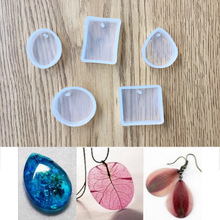 5pieces/set pendant silicone Mold Resin Silicone Mould handmade DIY Jewelry Making epoxy resin molds