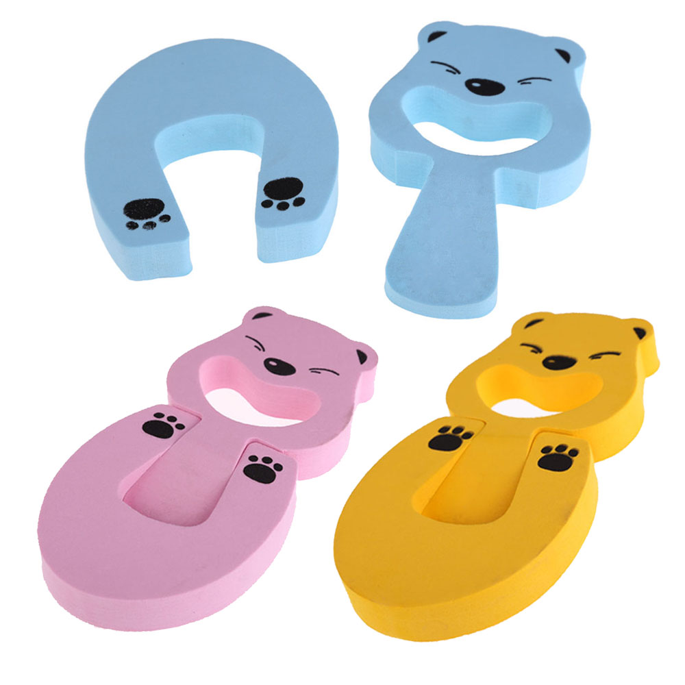 2 Ways Baby Safety Animal Jammers Stop Edge Children Guards Door Stopper Holder lock Safety Finger Protector baby products smiley face door window children safety lock band 2 pack set