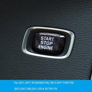 Image 5 - Car Engine Start Button Carbon Fiber Sticker Cover Stop Swtich Key Decor Car Styling For Volvo V40 V60 S60 XC60 S80 V50 V70 XC70