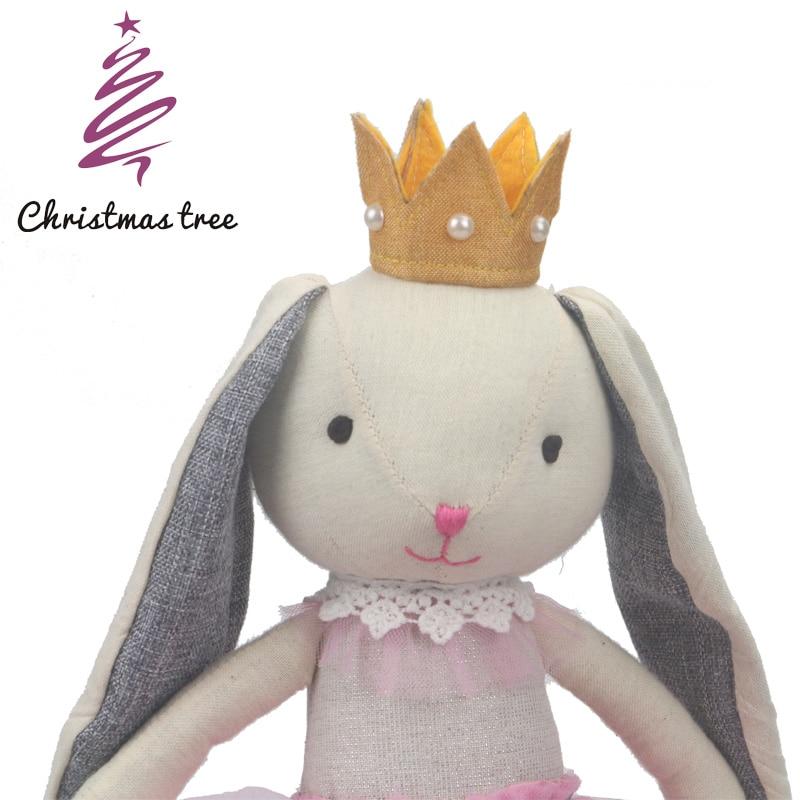 Christmas Tree Bunny dolls stuffed animal plush Ballet rabbit kawaii Princess Doll girls birthday gift easter bunny kawaii original le sucre bunny rabbit plush doll