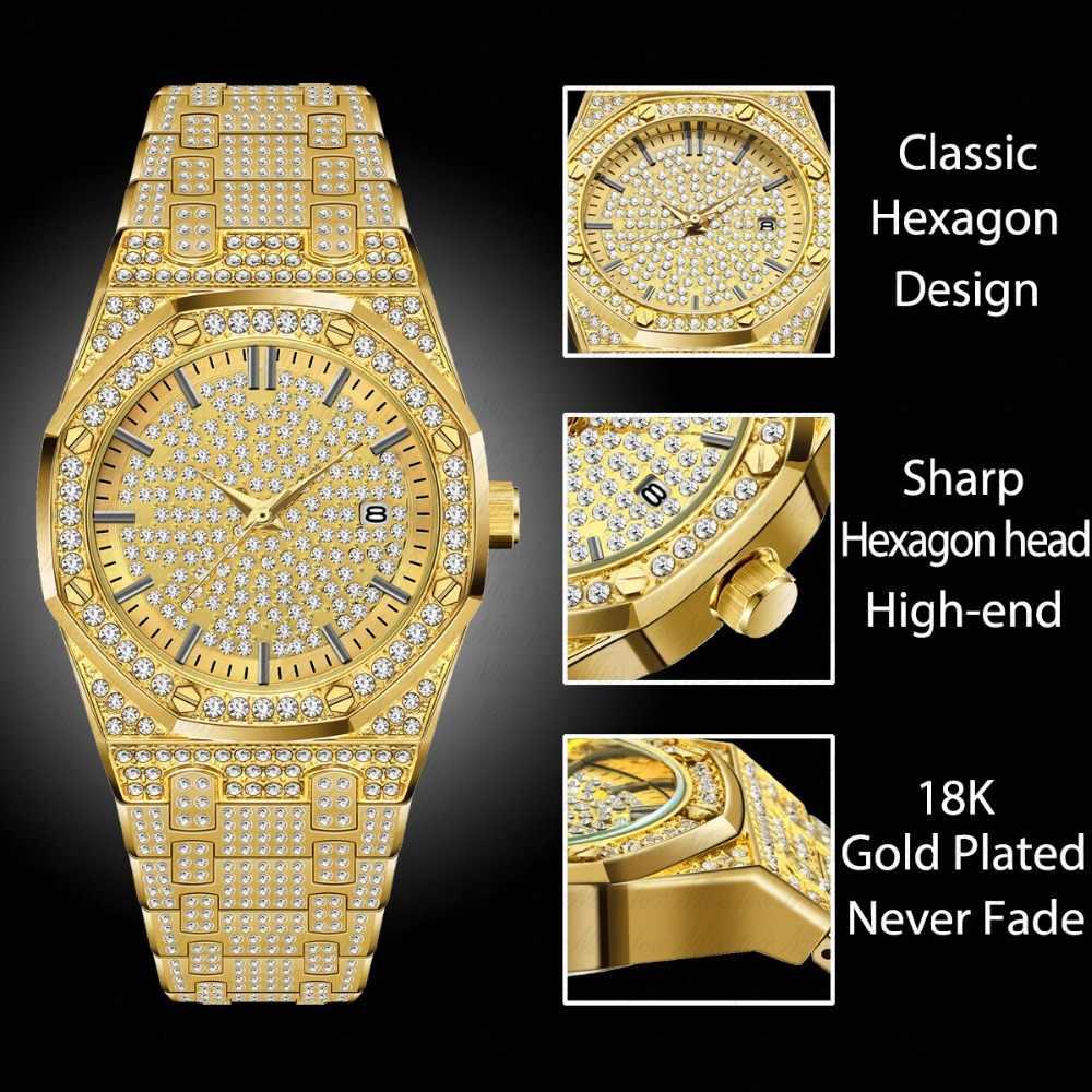 Мужские ролевые часы MISSFOX, роскошные брендовые золотые наручные часы Ar с бриллиантом, подарок для мужчин
