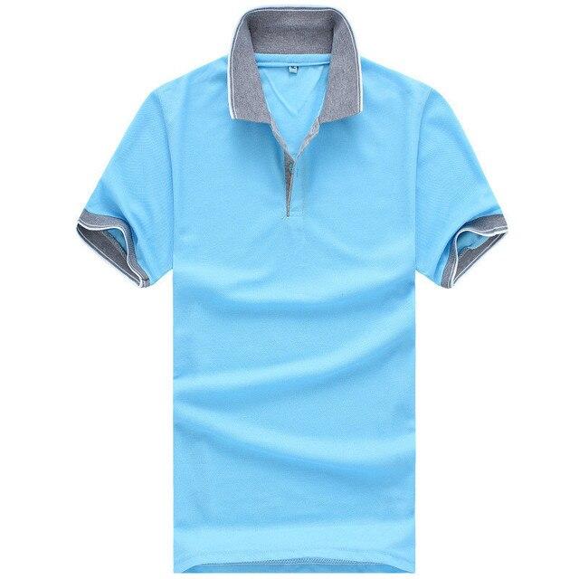2015 Nueva Camisa de Polo de Los Hombres De Los Polos de Los Hombres de Los Hombres camisa de Algodón de Manga Corta camisetas ocasionales Más Tamaño 3XL