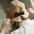 2017 Lady Plain Bucket Bow-knot Hats Men Women Vacation Sun Bob Cap Comfortable Chapeu Summer Style Fisherman Hat Free Shipping