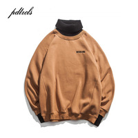 New Western Style Turtleneck Simple Letter Embroidery Pullovers Men Sweaters Winter High Street Male Casual Fashionable Sweater