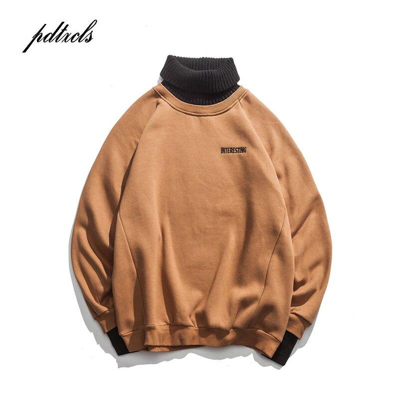 Novo Estilo Ocidental Gola Simples Carta Bordados Homens Blusas de Inverno Pullovers High Street Casual Masculino Camisola Da Moda