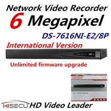 Inglés Versión NVR DS-7616NI-E2/8 P 16CH NVR 8POE Y 2 SATA Interfaces de Red Caso HD 1080 P NVR Sistema de CCTV HDMI Y VGA