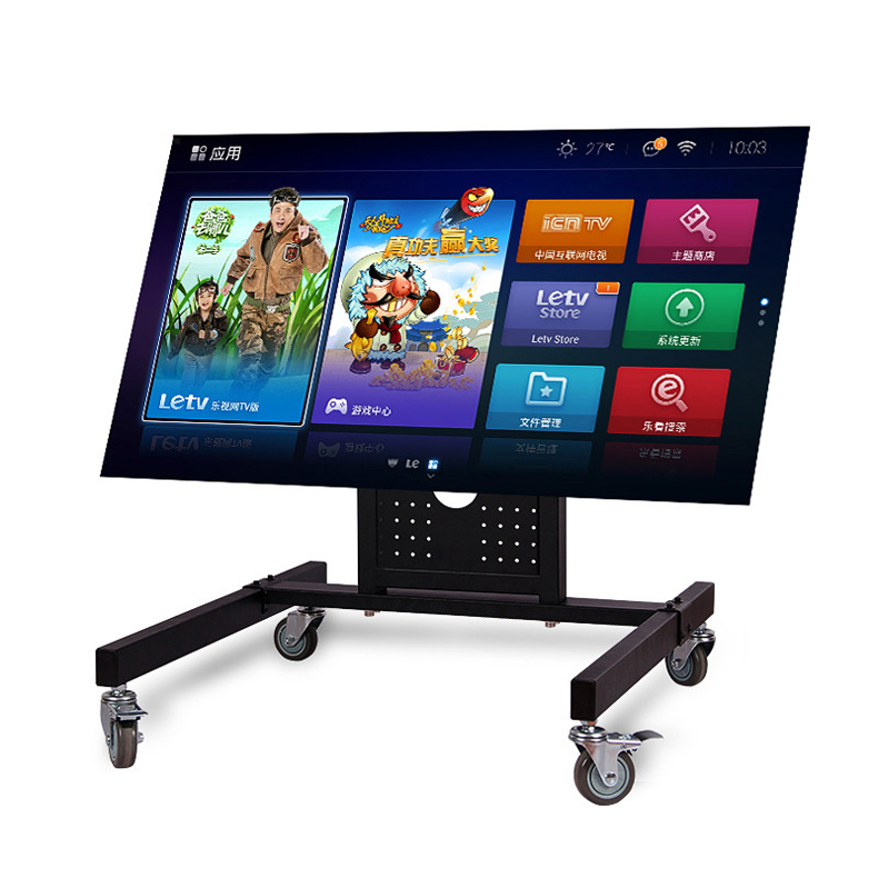 Hyvarwey Rolling TV Mount Stand Trolley 32-65inch Plasma Screen LED LCD Monitor Low Height Stand Cart D750