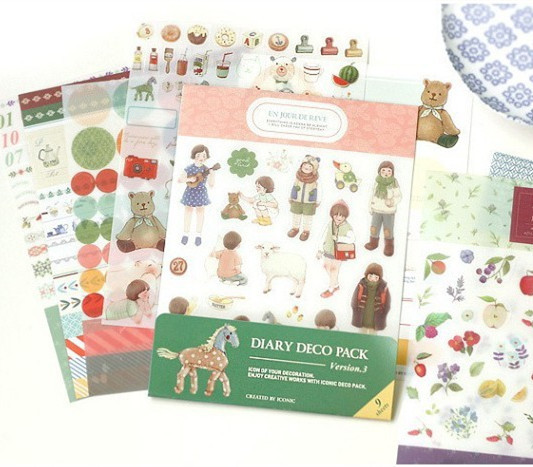 1pack/set New diary decor paper sticker note stickers for scrapbooking self adhesive paper stationery office School supplies kicute 70sheets pack self adhesive blank label paper price sticker stationery mark sticker for office stores libraries supplies