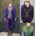 Batman The Dark Knight Joker Costume Full Suit Jacket Coat Shirt Pants Fantasia Men Custom Made Movie Halloween Cosplay Costume