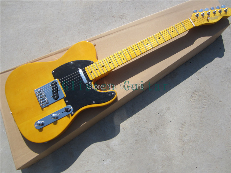 New Arrival light yellow TL electric guitar  t36 new arrival iron