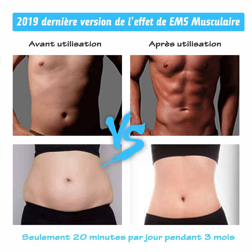 Abdominal Muscle Stimulator Abs Muscle Toner EMS Toning Belts Body Fitness Trainer Workout Home Gym Machine Electrostimulation in Vibration Fitness Massager from Sports Entertainment