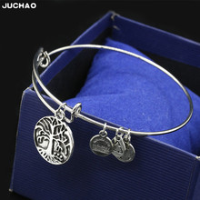 JUCHAO Cuff Bracelets Bangles for Women Fashion Pendant Adjustable Jewelry Womens Accessories Bracelet Bijoux Femme(China)