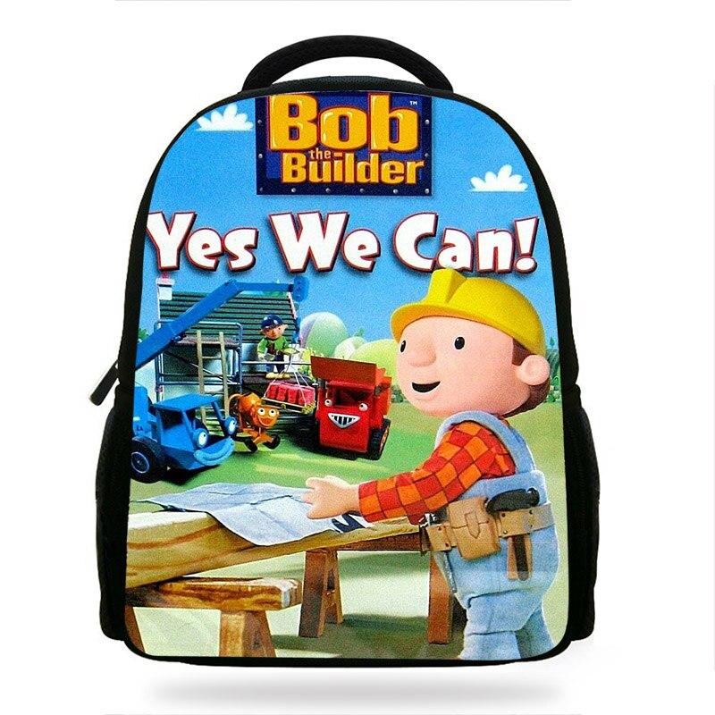 14Inch Cartoon Bob The Builder School Bag For Teenagers  Backpack For Children Boys Kids Soft Bag