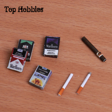 1/6 Soldiers Doll Scale Model Accessories Scene Props Four Type Cigarettes Box Smoke New