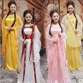 12 цвет традиционный женщины тан древняя китайская костюм красивый танец Hanfu костюм принцесса династии опера Hanfu платье