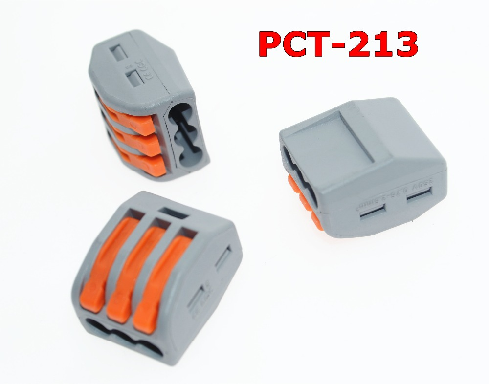 Wago 222-413 connector 10PCS PCT-213 3P Universal Compact Wire Connector Conductor Terminal Block цена